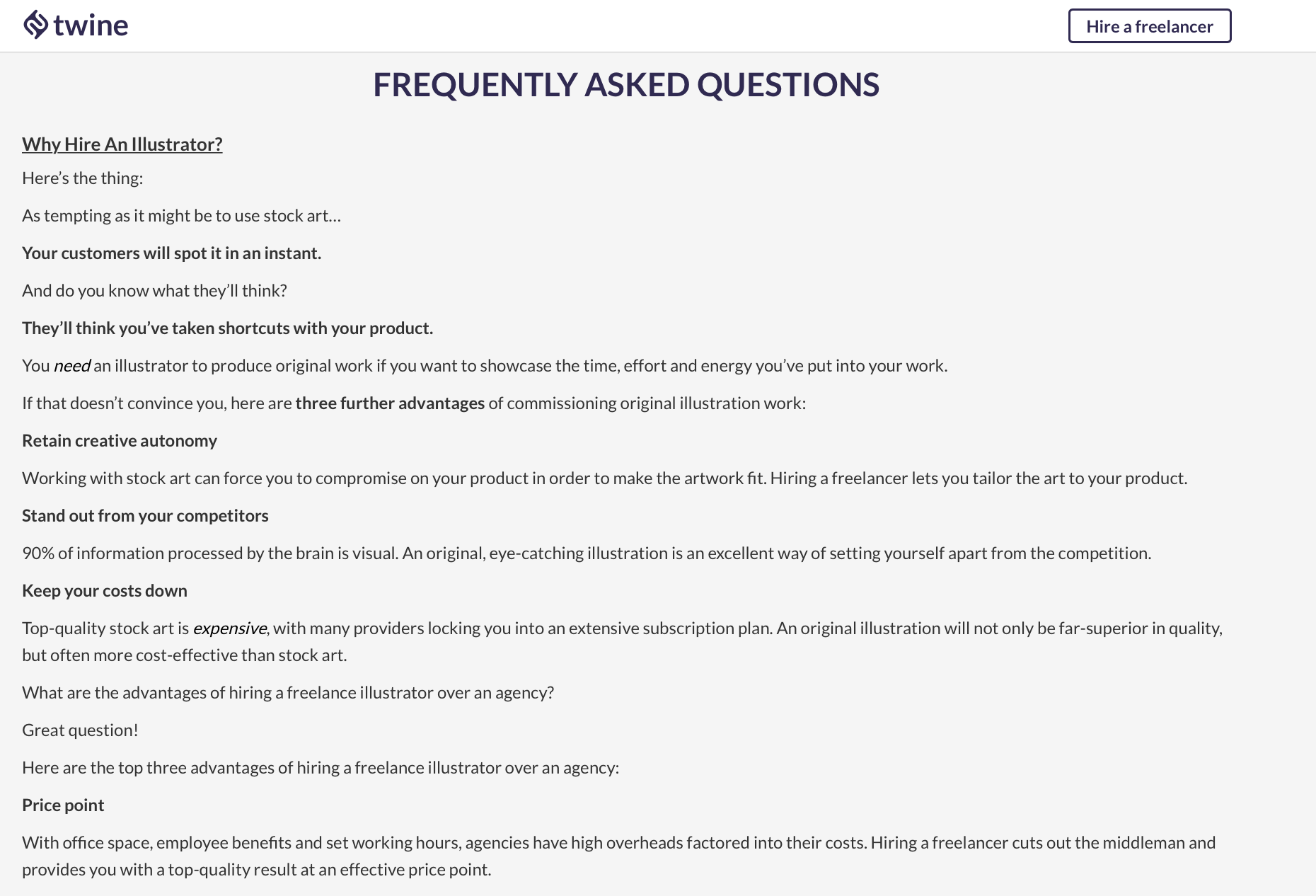 FAQs to increase conversion rate