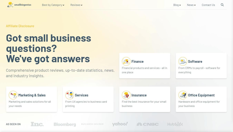 SmallBizGenuis - a reliable business information hub