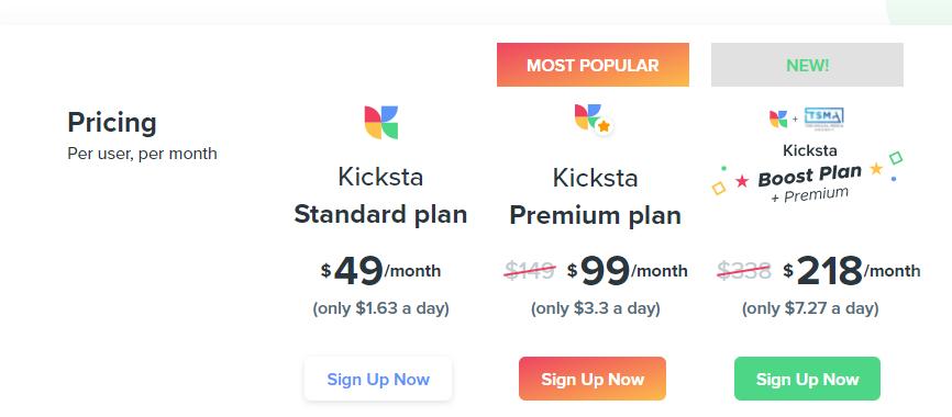 kicksta pricing