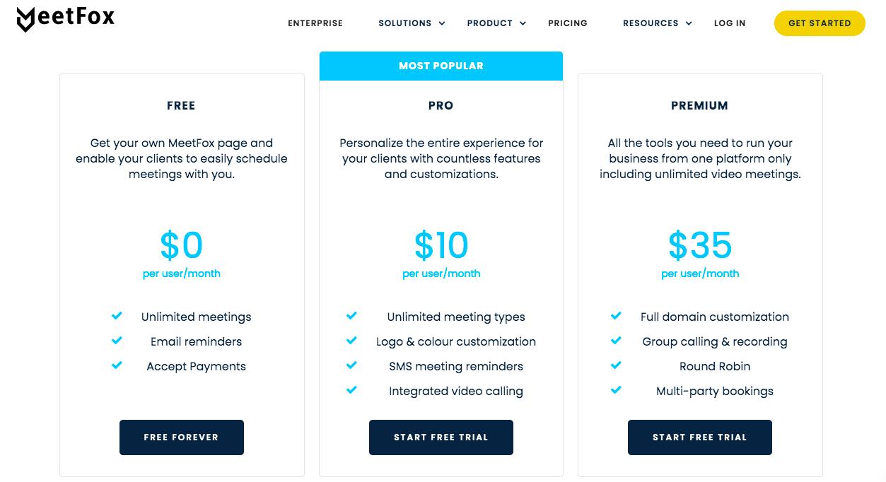 MeetFox pricing