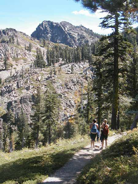 The trail to the Sierra Buttes has magnificent views.