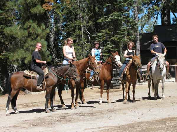 You can rent horses at Gold Lake Stables and see the Lakes Basin without hiking the trails.