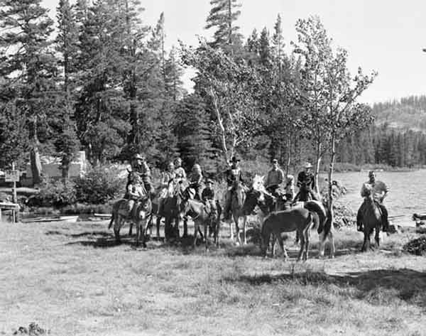 There were cabins and a store at the east end of Gold Lake. Horses were rented by groups from the lodges.