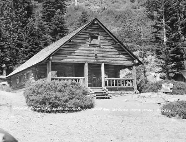 The Main Lodge at Packer Lake has not changed from 1946.  A log cabin, it has weathered many hard winters.