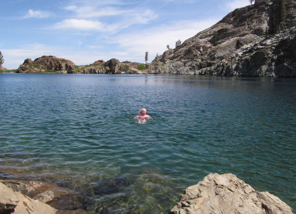 The lakes are all swimmable in the Lakes Basin. This lake is Young America Lake