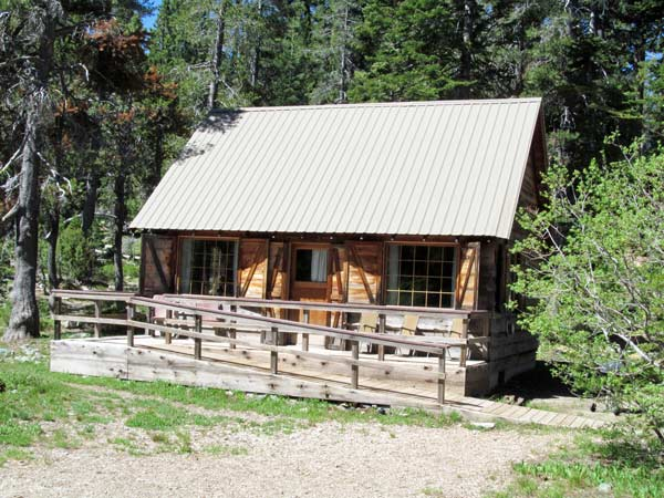 Childs Cabin has an accessible ramp to the porch.