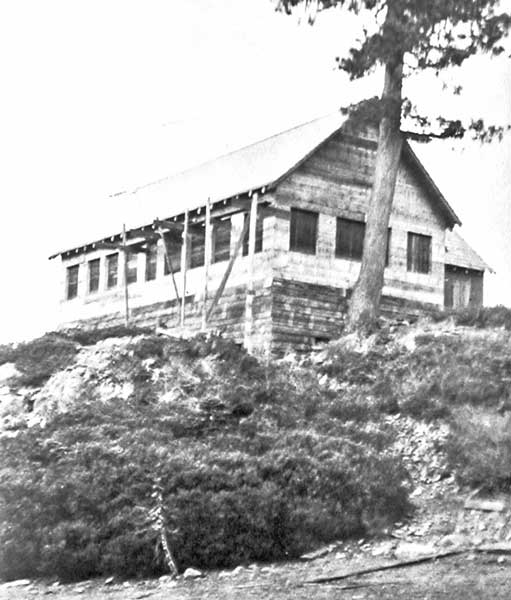 The Dining Hall being constructed in the early 1920's with no windows or shutters