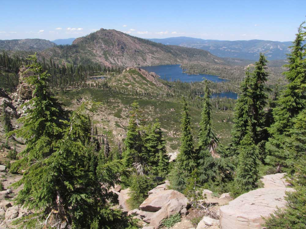 Mt. Elwell and Long Lake from the PCT