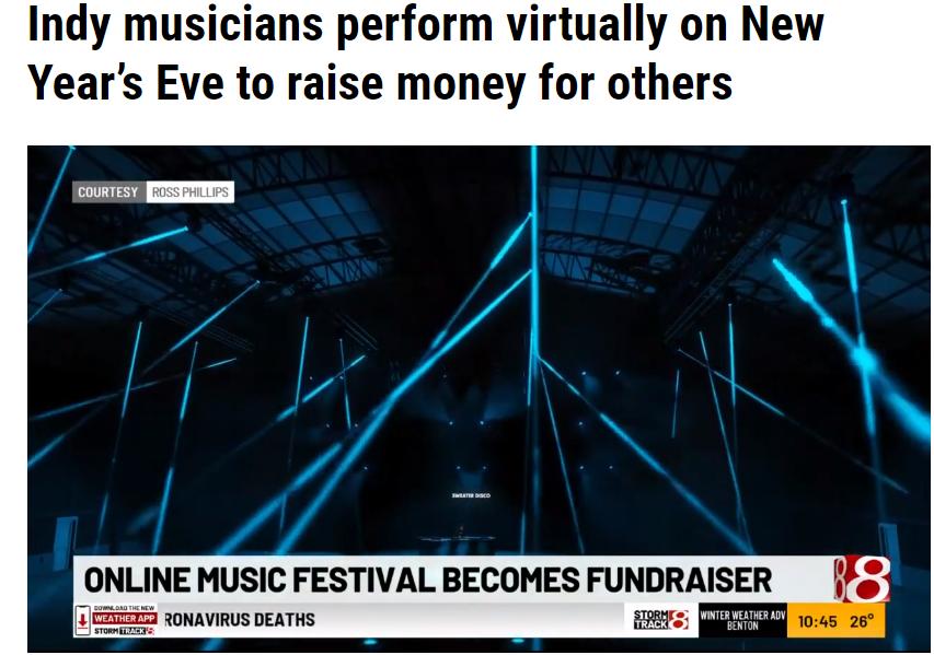WISH-TV News story on Citysound Livestream Music Festival