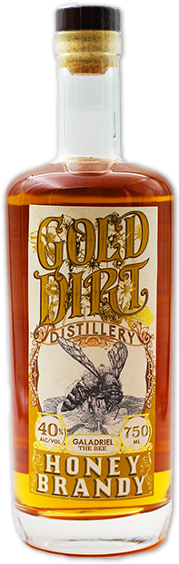 gold dirt distillery honey brandy