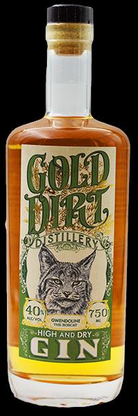 gold dirt distillery barrel rested gin