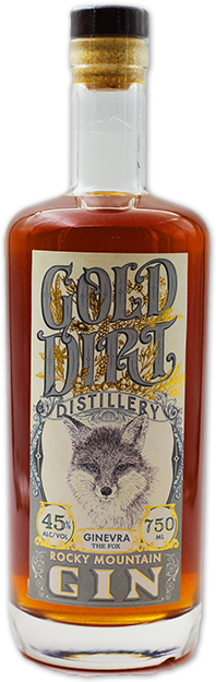 gold dirt distillery rose infused gin