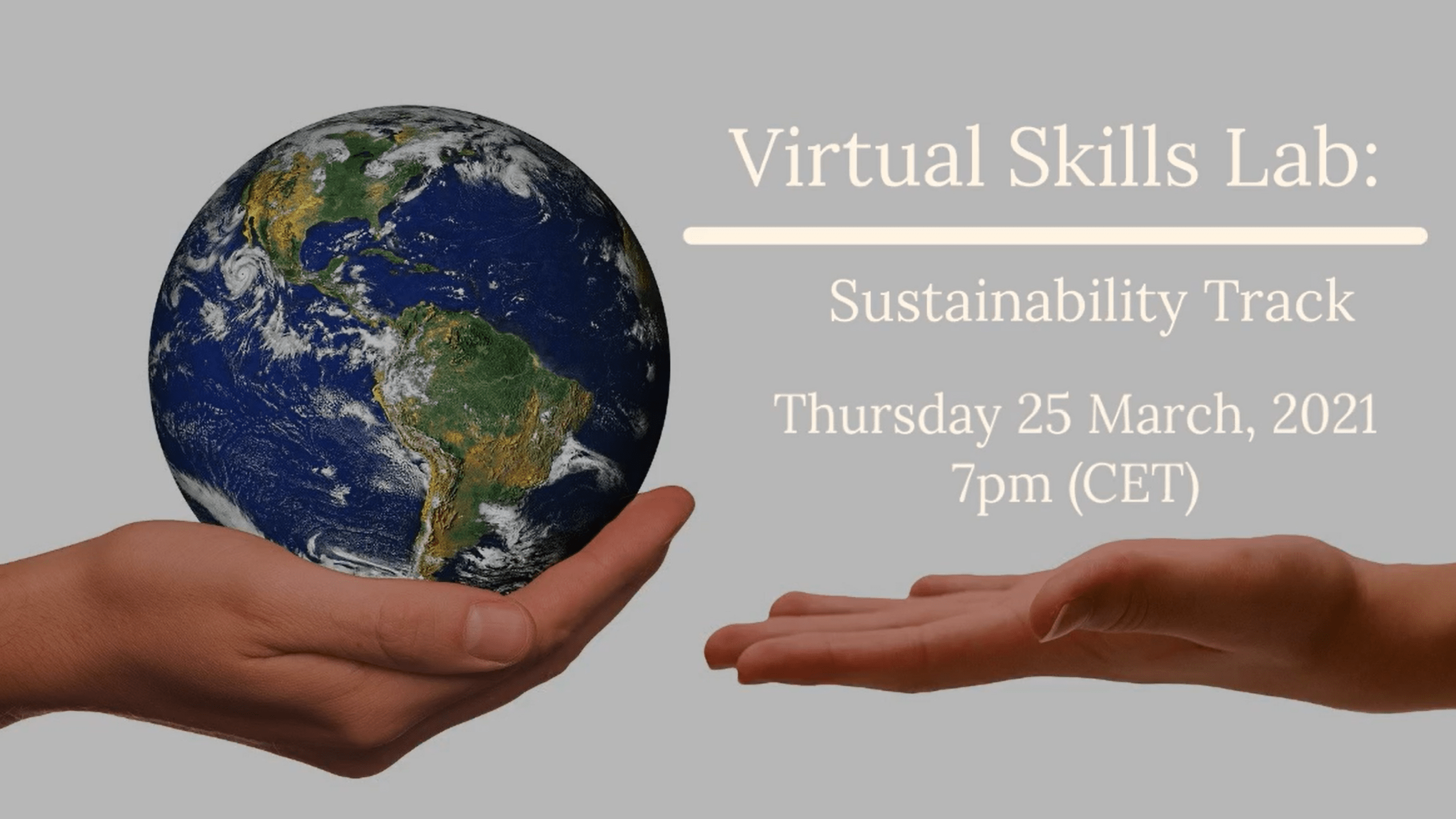Virtual Skills Lab Info Session: The Sustainability Track