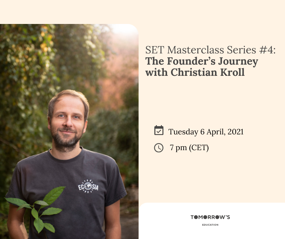 SET Masterclass Series #4 - The Founder's Journey with Christian Kroll
