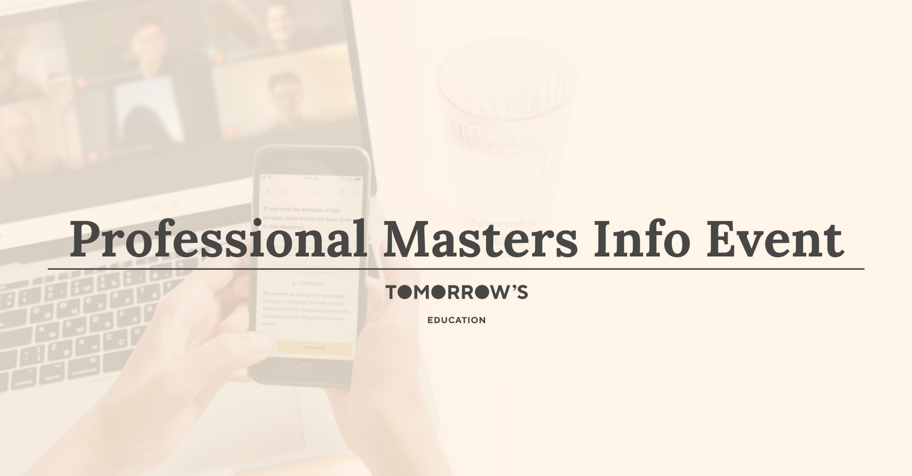 Professional Masters Info Event