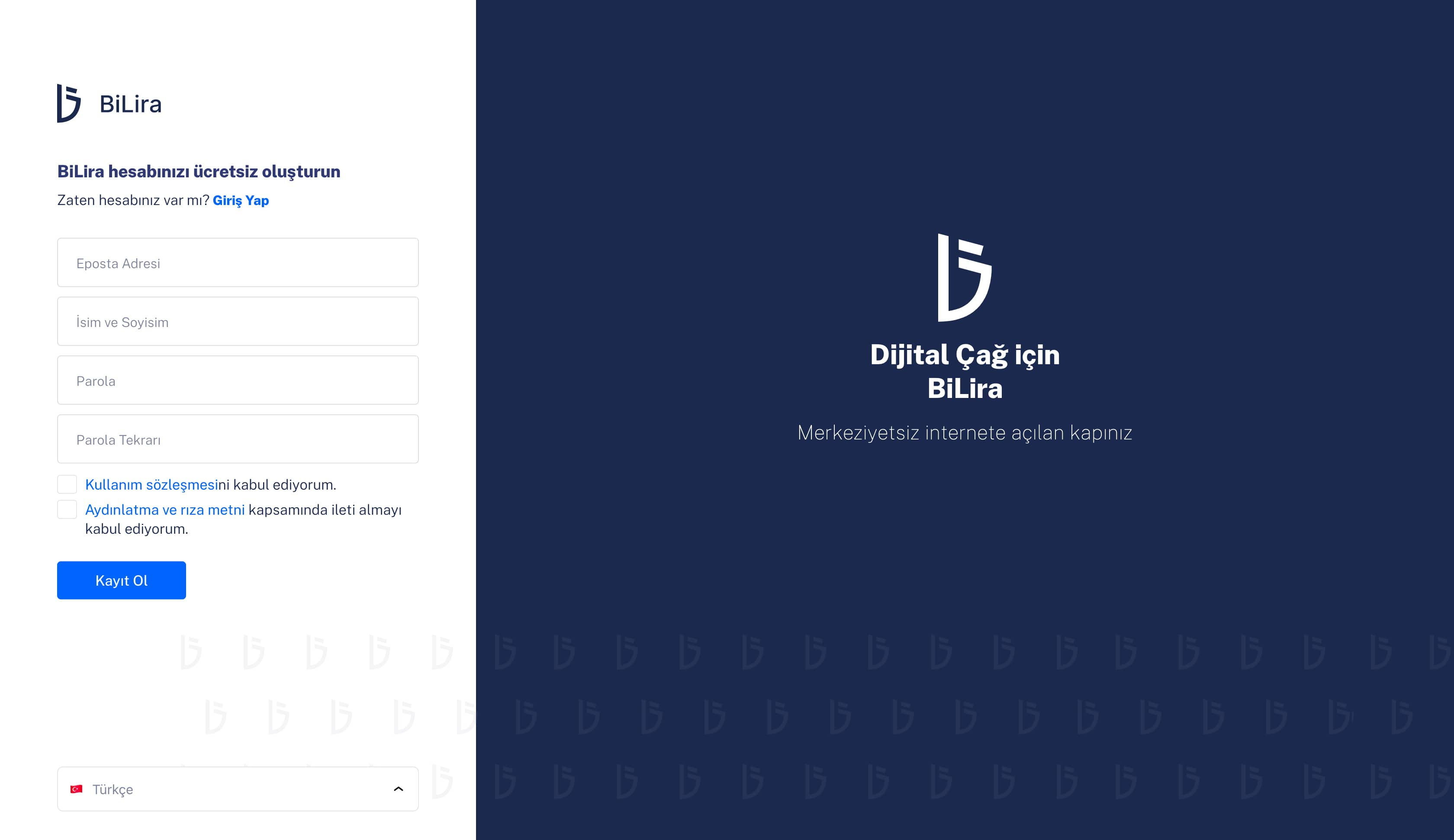 Hesap Oluştur | BiLira