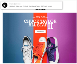 Converse email ad