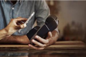 paying via phone at card reader