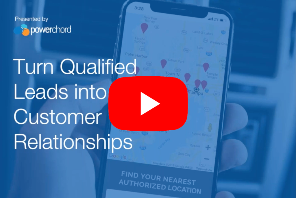 Turn qualified leads into customer relationships webinar icon click to play
