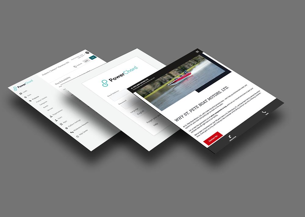 Screenshots of the PowerChord platform
