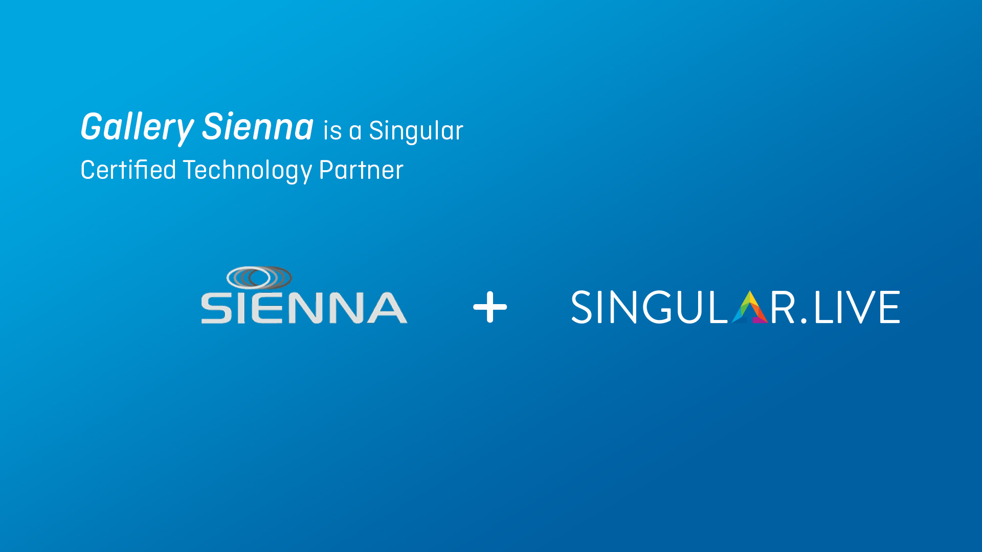 Gallery Sienna becomes new Certified Technology Partner