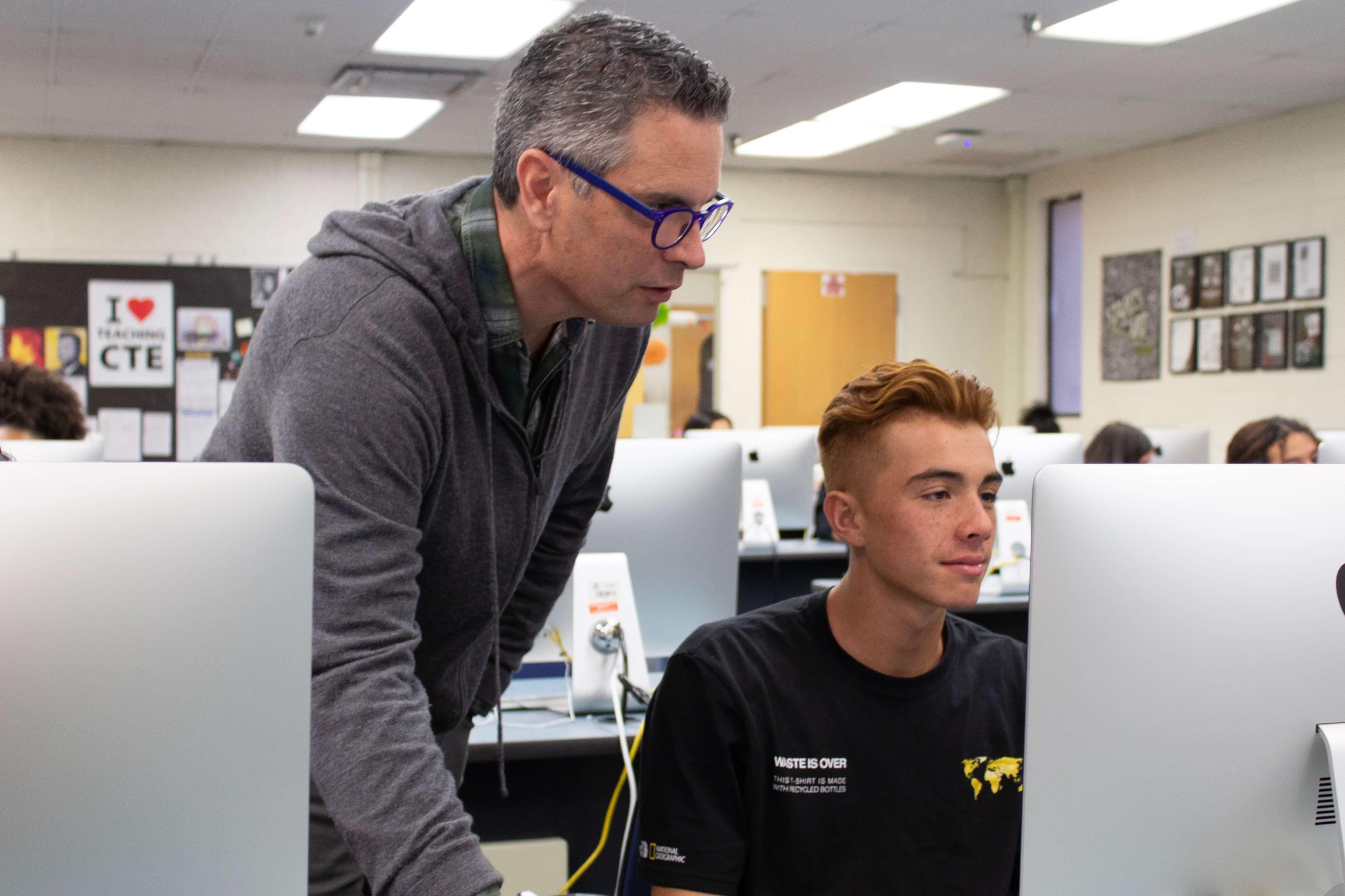 Singular for Schools trains students at John F. Kennedy High School