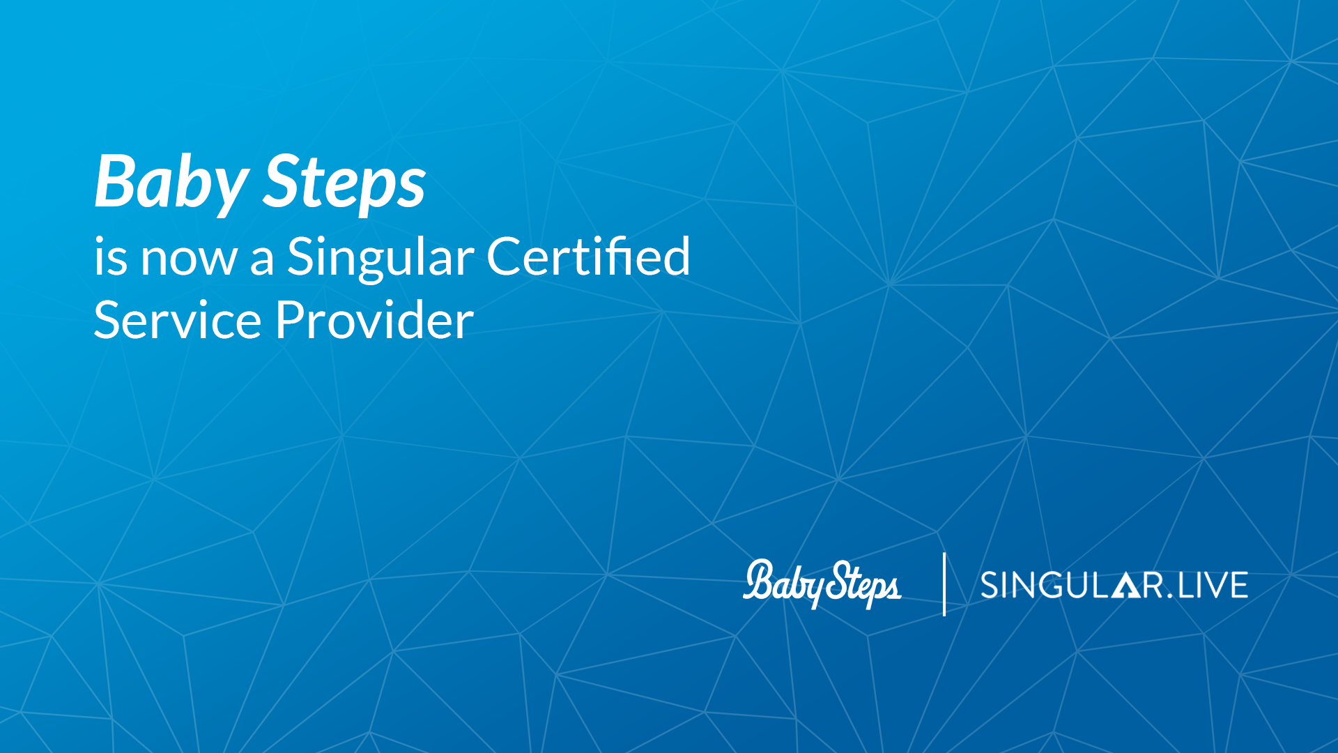 Baby Steps becomes new Singular Certified Service Provider