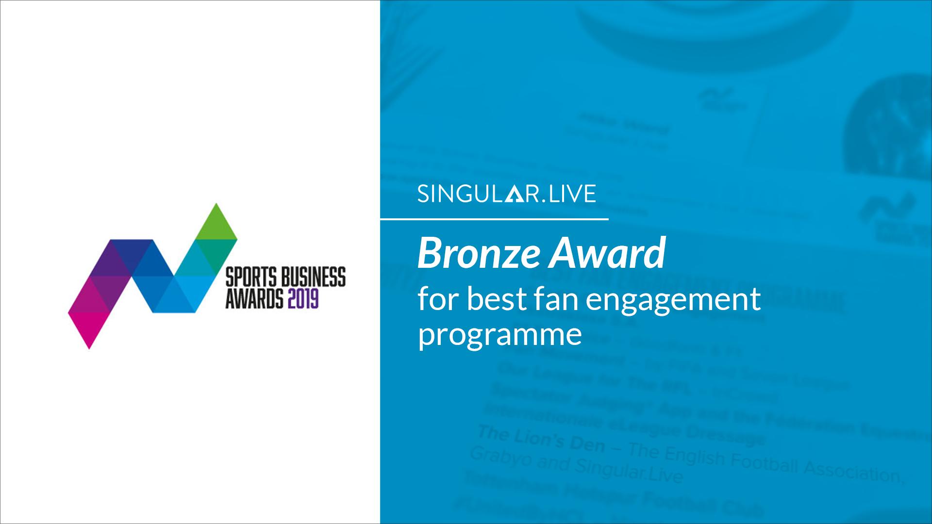 Singular Wins at Sports Business Awards