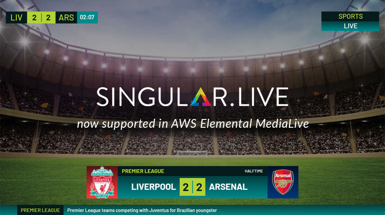 Singular now supported in AWS Elemental MediaLive!
