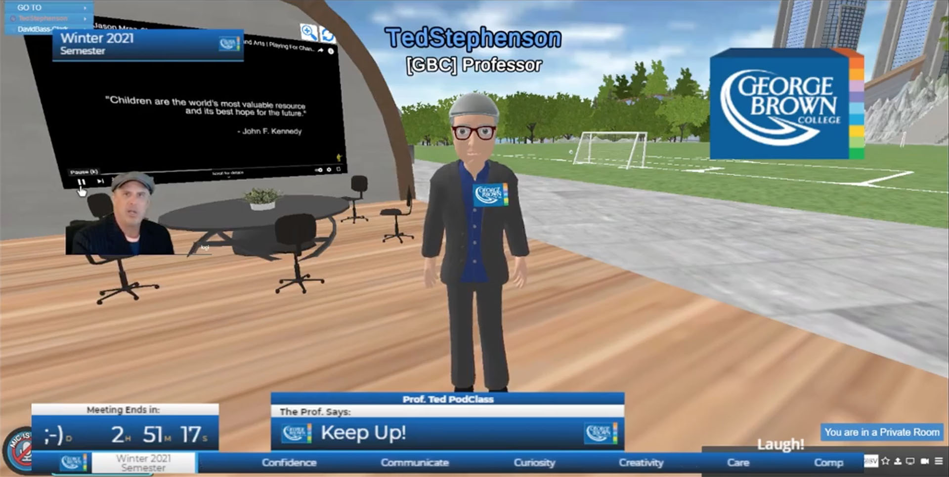 The Professor Ted Experience: A Virtual Classroom for Modern Teaching