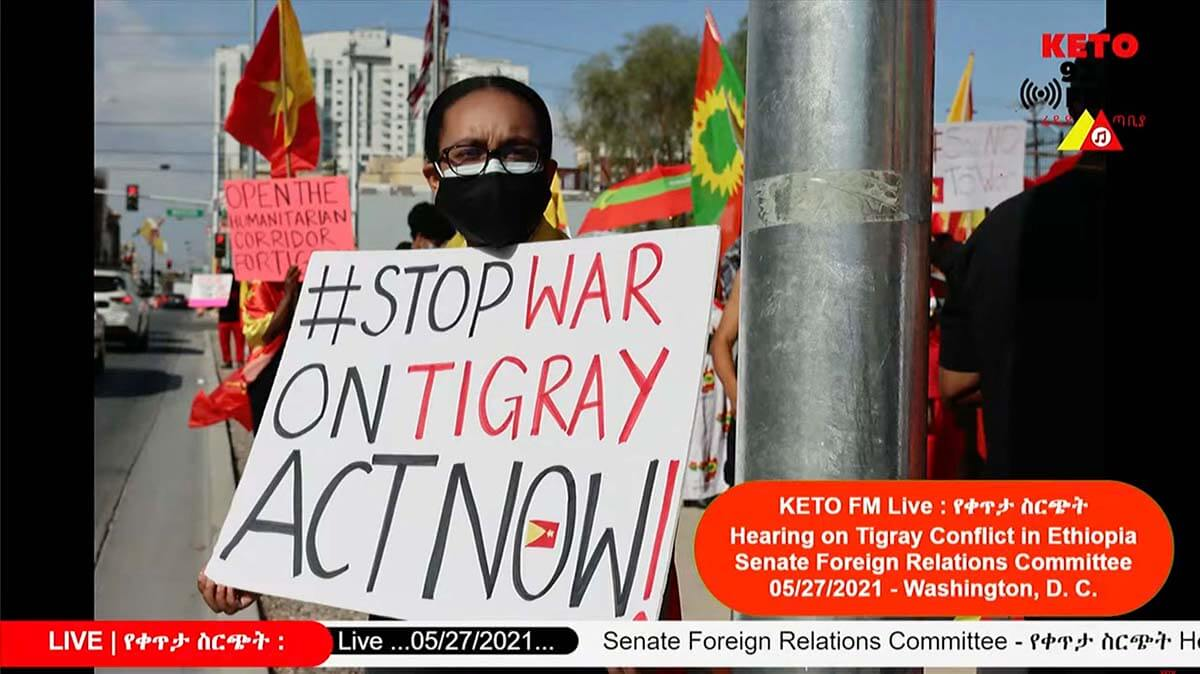 Live Coverage of Senate Hearing on Tigrayan Conflict Brings Awareness to Cause