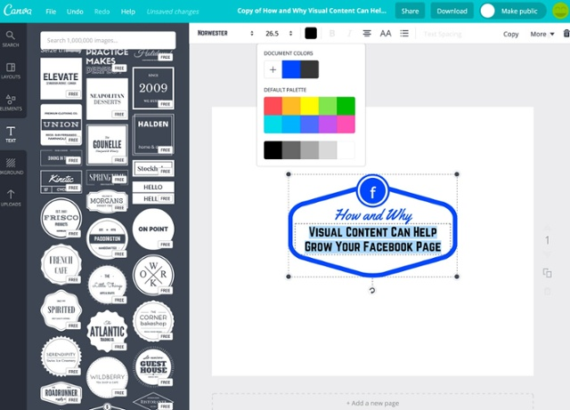 Designing graphics with Canva