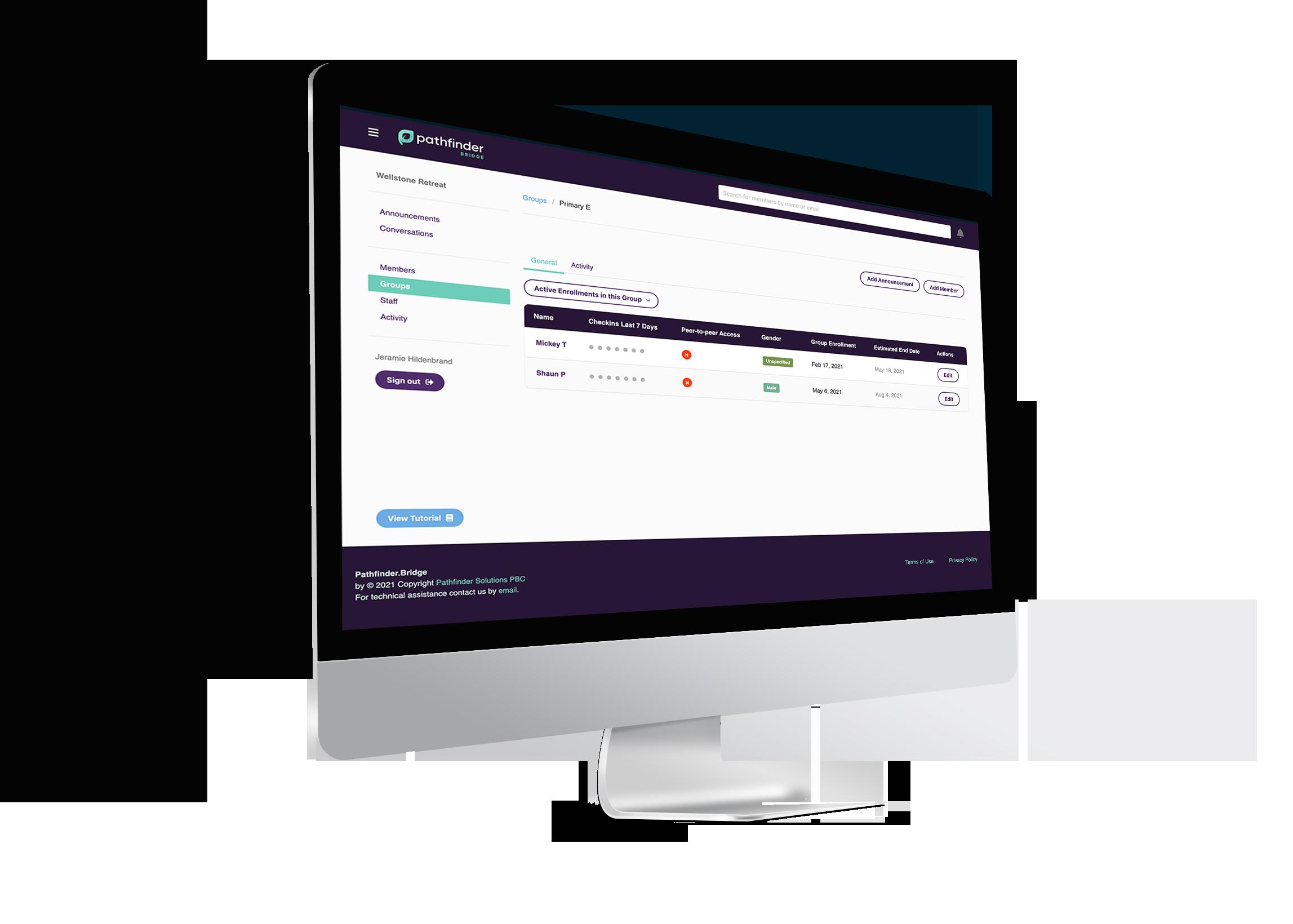 bridge user interface