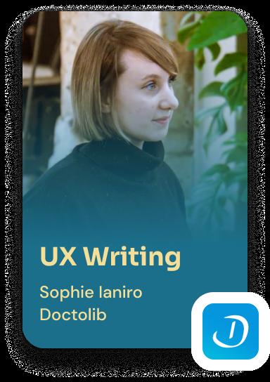 UX Writing avec Sophie Ianiro, Doctolib