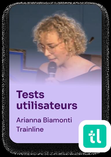 Tests utilisateurs avec Arianna Biamonti, Trainline