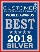 Customer sales and service world awards best 2018 silver