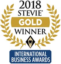 2018 stevie gold winner for international business awards