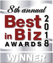 8th annual best in biz awards 2018 winner