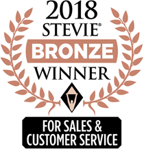 2018 stevie bronze winner for sales and customer service