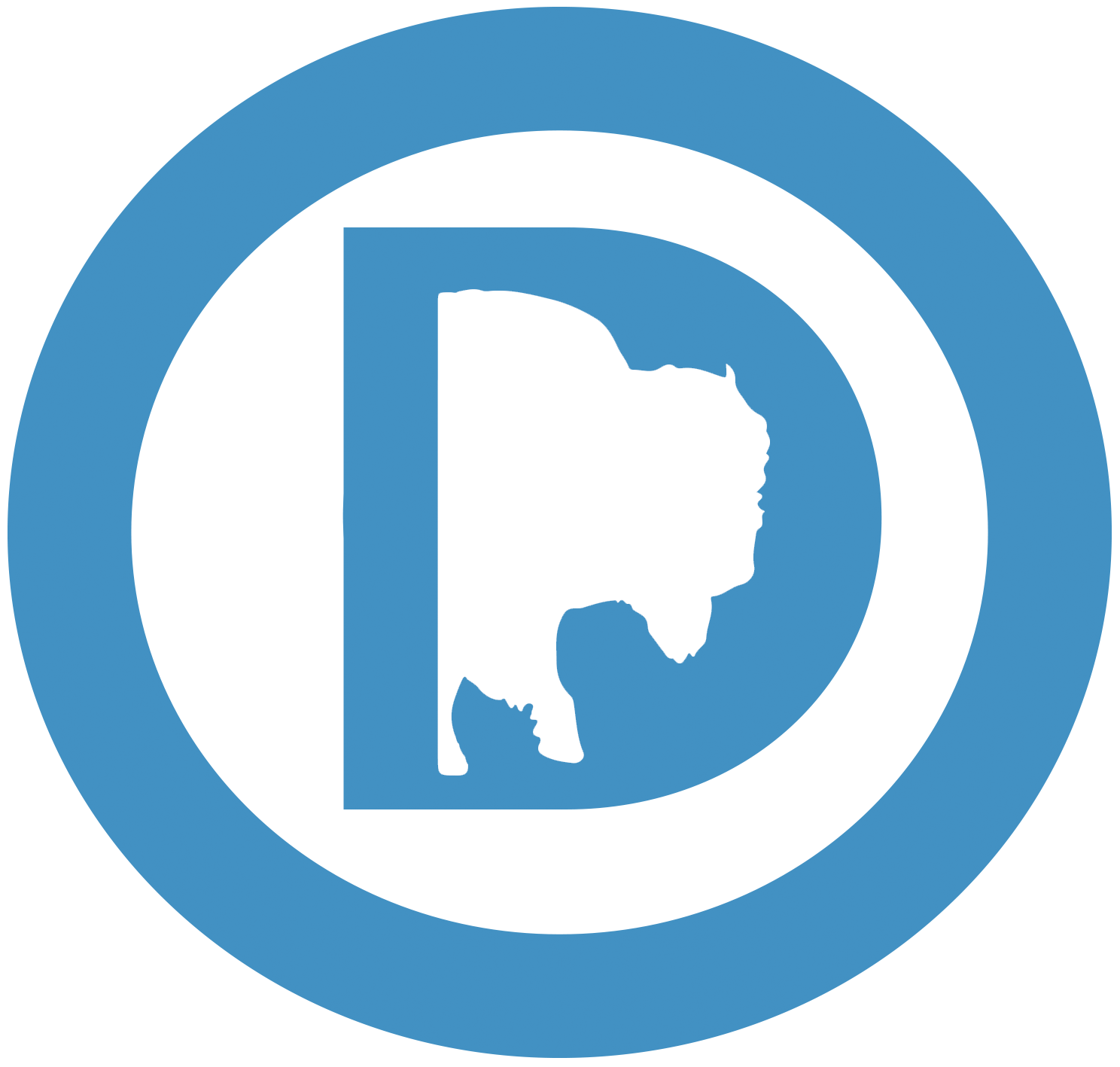 Wyoming Democratic Party circle logo
