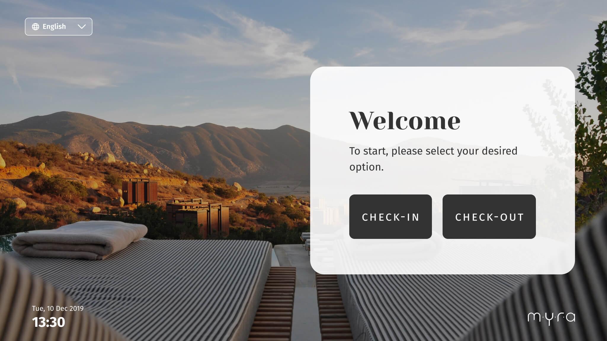 Myra User Interface home