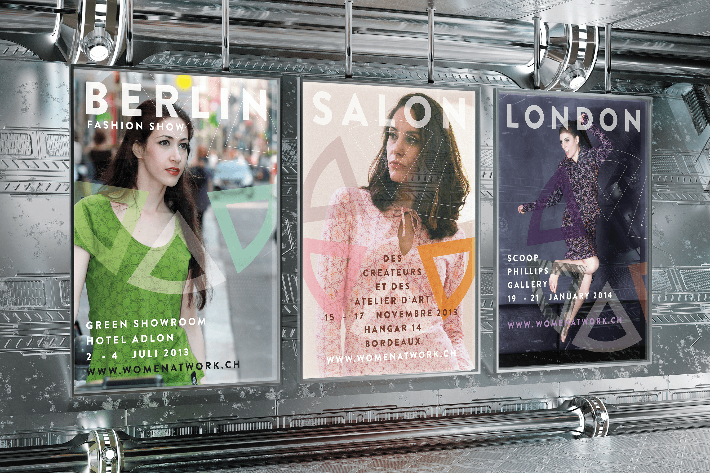 Plakat Werbung für internationales Fashion Label