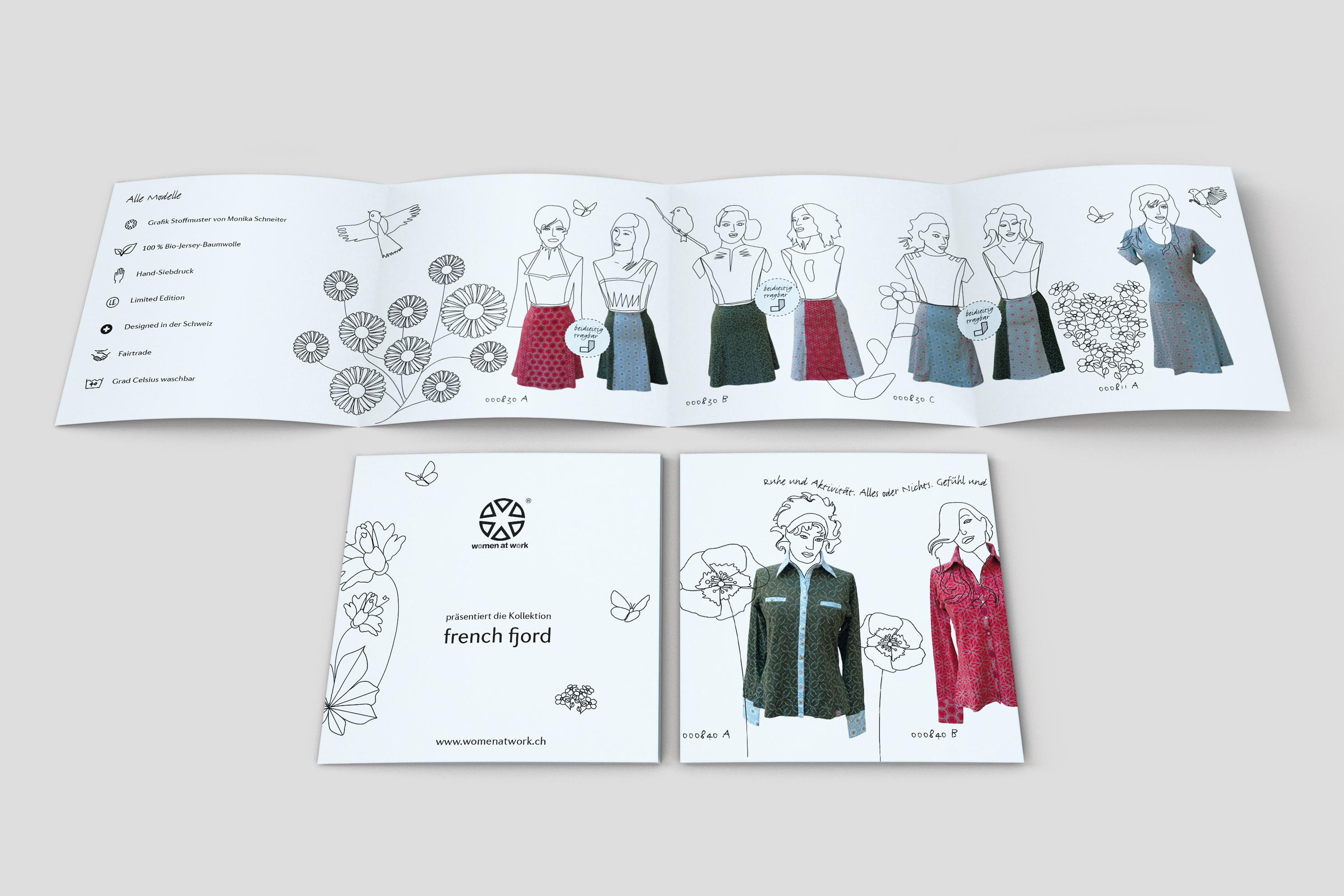 Mit Illustration ins Rampenlicht. Design für Bio Fashion Marke.