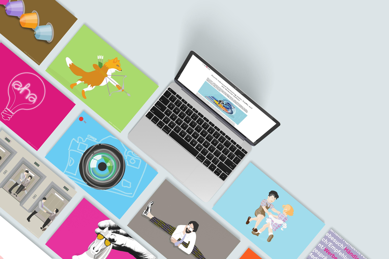 Illustrationen für Blogbeiträge einer Digital Agentur