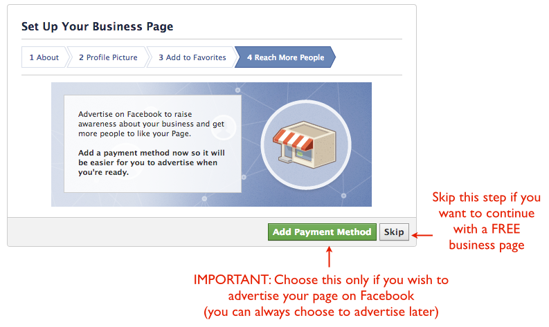 Set up facebook business page - Advertise