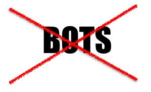 NO BOTS!