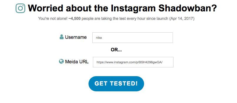 Instagram Shadowban Tester
