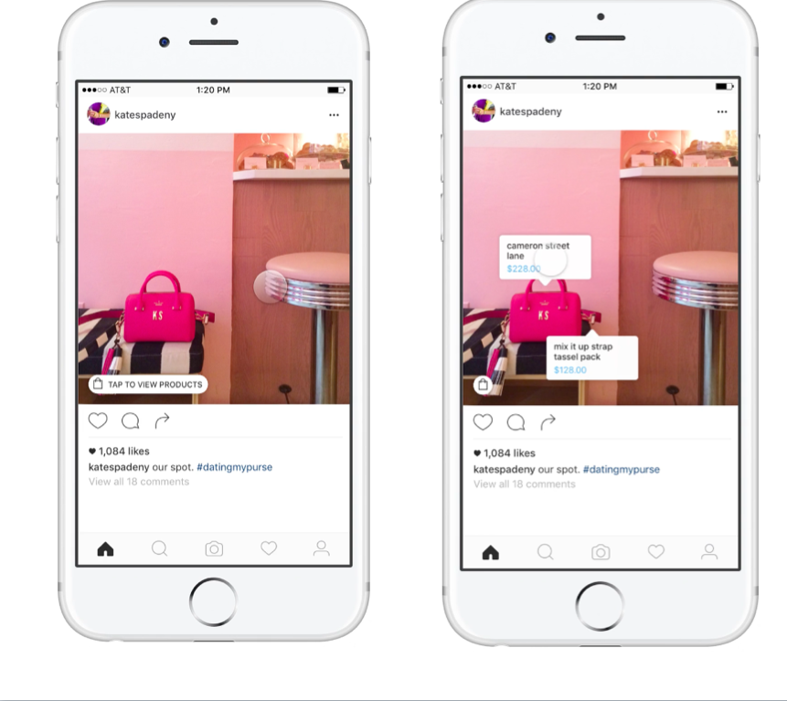 Kate Spade, first to arrive on Instagram Shopping scene!