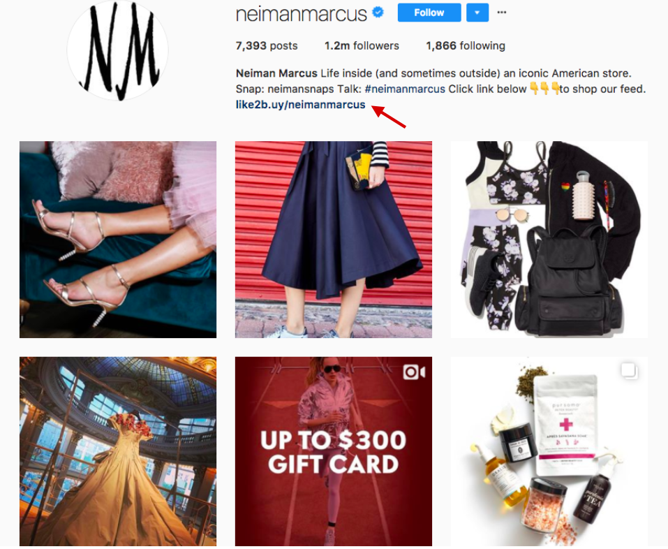 Neiman Marcus Shoppable Instagram