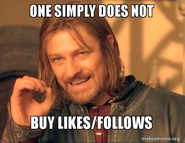 Sean Bean - don't buy likes/follows